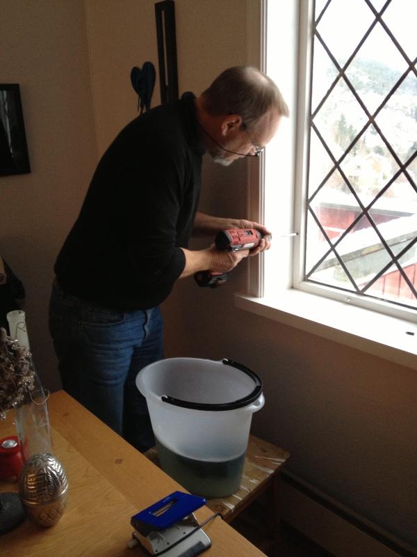 ikke skap, men vindusvask.